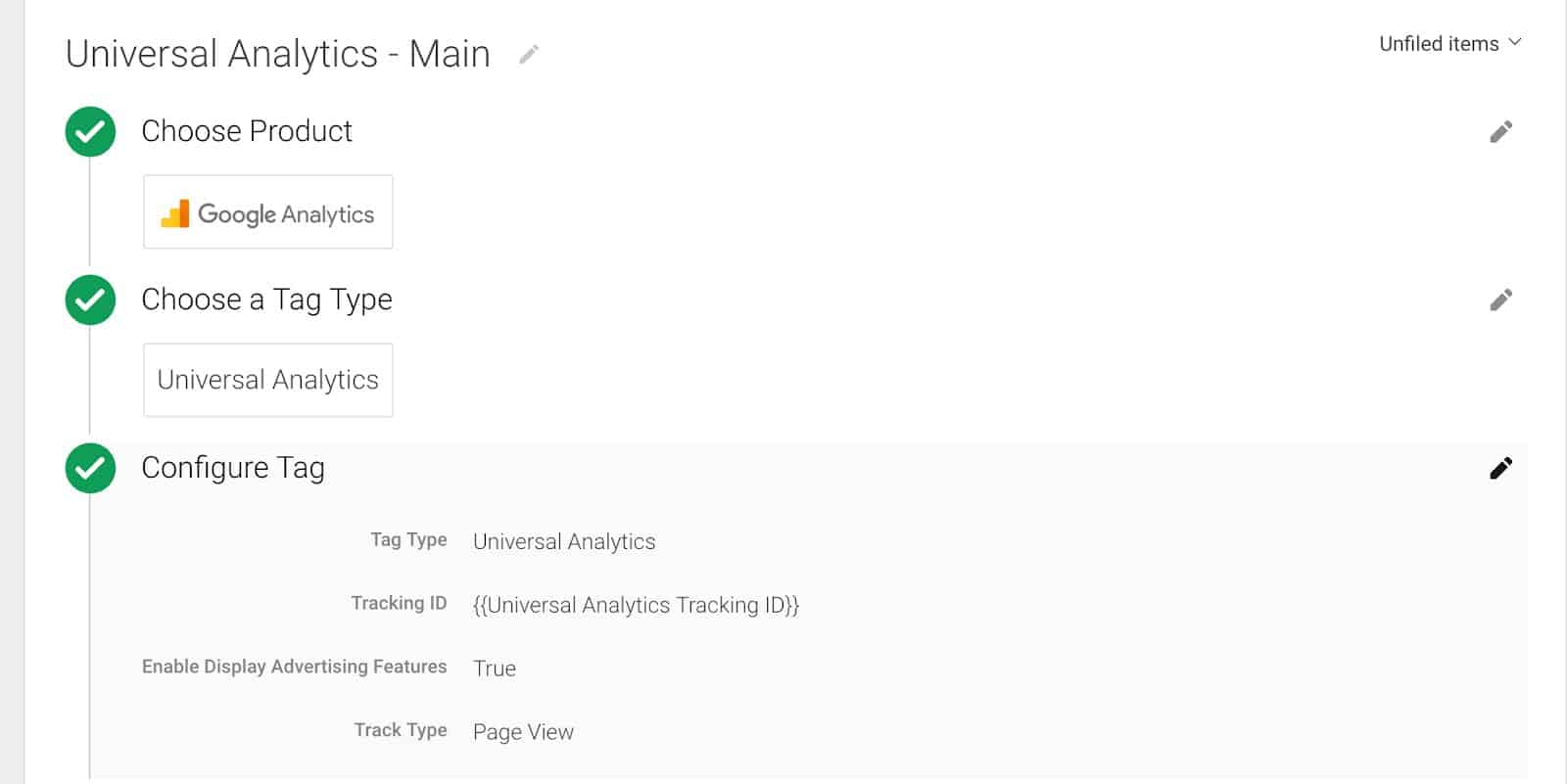Google Analytics in Google Tag Manager